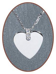 925 Sterling Zilveren 'Hart' Graveer Hanger - ZG01