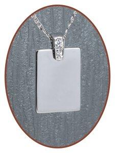 925 Sterling Zilveren Graveer Hanger - ZG04