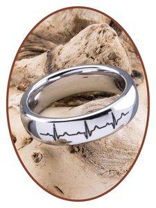 Tungsten Carbide Dames Graveer Gedenk Ring - TUR7401