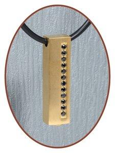 Titanium JB Memorials Premium Goud  Design Ashanger - T001