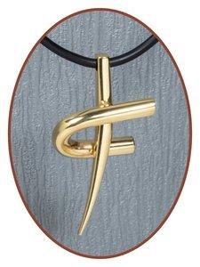 Titanium JB Memorials Premium Goud 'Kruis' Design Ashanger - T006