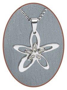 316L Edelstalen JB Memorials 'Flower' Ashanger - RSP013
