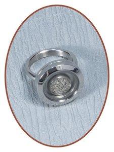 Edelstalen/RVS Dames Medaillon As Ring - RB127