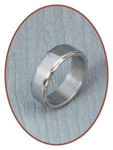 316L Edelstalen Graveer Ring - PFX2446