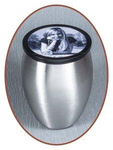 Edelstalen RVS Mini Urn 'Foto' - M288F