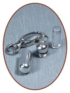 Aluminium Askoker / Sleutelhanger 'Hart' - ALU03H