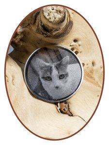 Edelstalen Spiegelgepolijst Foto / Vingerafdruk Graveerplaatje - GR012