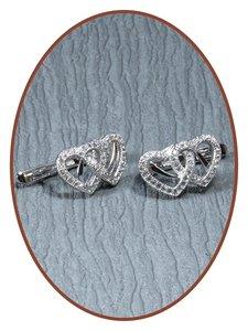 925 Sterling Zilveren dames zirconia as oorsieraden  - EBB7723
