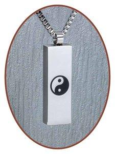 Edelstalen/RVS  'Yin Yang'  design Ashanger - B183