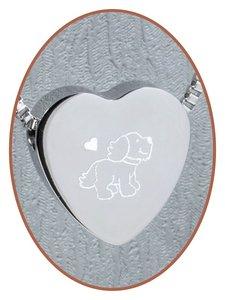 Edelstalen/RVS 'Hond' Hart Ashanger - B304X16