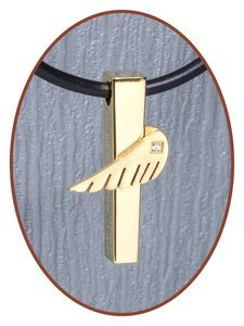 Titanium JB Memorials Premium 'Angelwing' Design Ashanger - T017