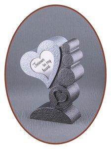 Mini Asche Urne 'Heart' in Verschiedene Farben - HM421A