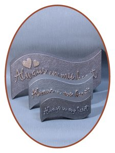 Mini As Urn 'Always in my heart' in Diverse Afmetingen - HM423