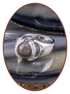 Close2Me© 'Always With Me' Sterling Zilveren Haarlok Ring - CM015H