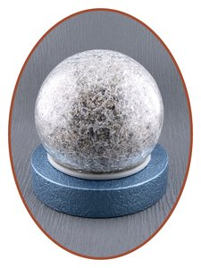 Mini As Urn 'Crackle Glass Ball' in Diverse Kleuren - HM439