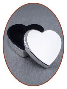 Graveerbare Memory Box / Mini Urn 'Heart' - M393