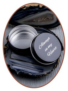 Aluminium As / Haarlok Bewaardoosje (Zwart klein) - AL003