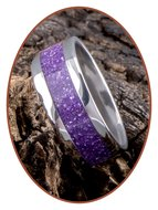 JB Memorials Edelstalen As Ring 'Magic Violet' - CRA011