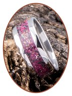 JB Memorials Edelstalen As Ring 'Rose Red' - CRA009