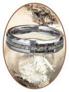 JB Memorials Tungsten Carbide Facet Dames / Heren As Ring - RB049
