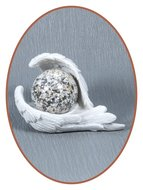 Mini Urn 'Protected by Angels' White Effect - M044