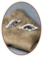 925 Sterling Zilveren dames zirconia as oorsieraden  - EBB64